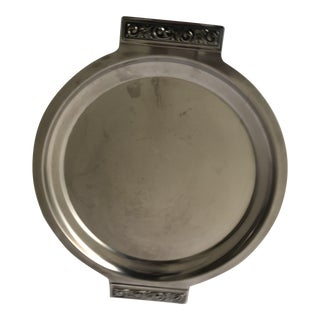 """Midcentury International Stainless Tray 14"""" Excellent For Sale"""