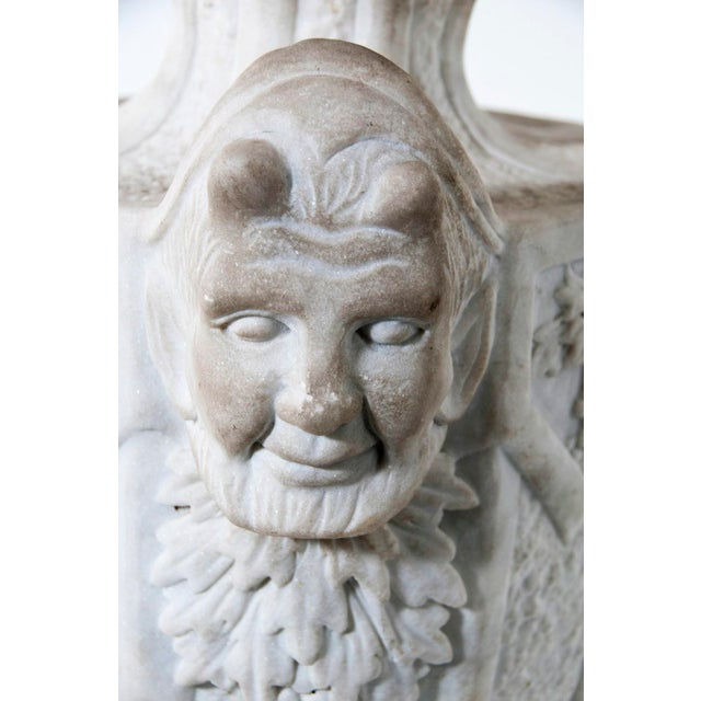 White Early 20th Century Large Victorian Marble Finials - a Pair For Sale - Image 8 of 9