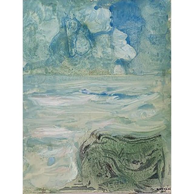 """Emil Bisttram """"The Transcendental Landscape"""" Painting For Sale"""