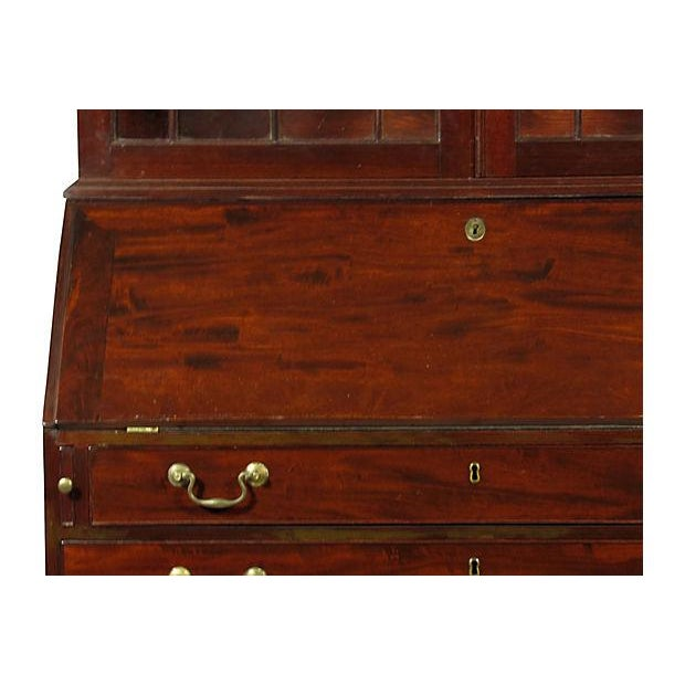 Late 18th Century 18th Century George III Mahogany Bureau Secretary For Sale - Image 5 of 7