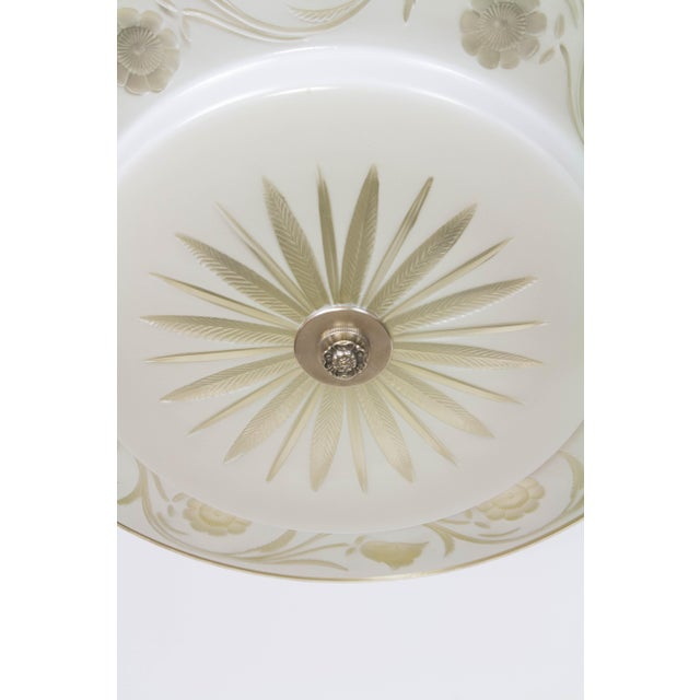 Hollywood Regency Flush Mount Fixtures - A Pair For Sale In Boston - Image 6 of 9