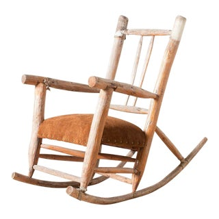 Vintage Rustic Rocking Chair For Sale