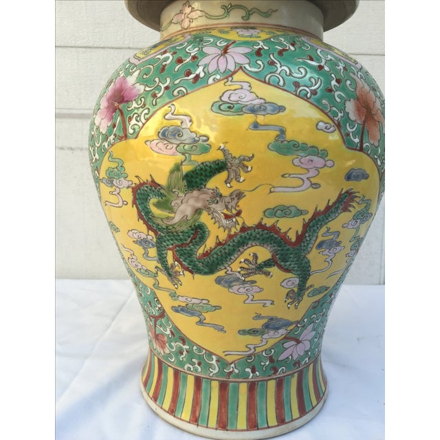 Chinese Chinoiserie Colorful Dragon Ginger Jar - Image 3 of 9