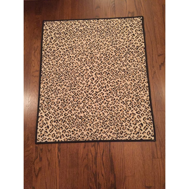 Large entryway rug - Stark Folsom True Leopard with black surge finish. Perfect for an entryway or powder room.
