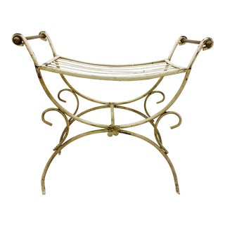 Hollywood Regency Vanity Bench For Sale