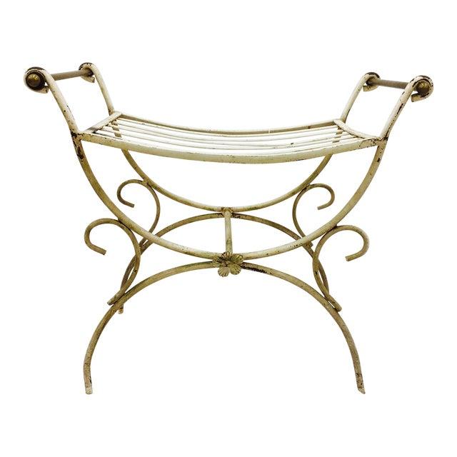Hollywood Regency Vanity Bench - Image 1 of 4
