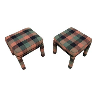 Vintage Parsons Style Stools - a Pair For Sale