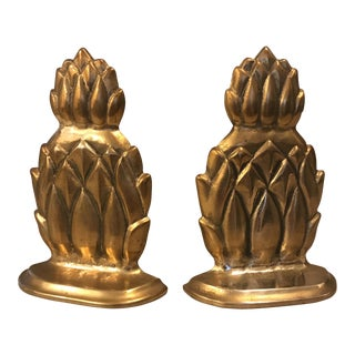 Andrea by Sadek Brass Pineapple Bookends - A Pair