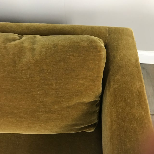 Vintage Gold Mohair Sofa - Image 5 of 11