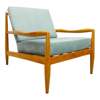 Mid Century Modern Adrian Pearsall Craft Associates 843-C Birch Framed Low Lounge Chair For Sale