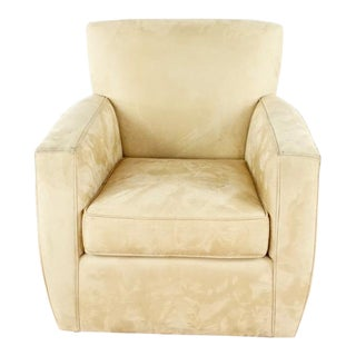 Crate & Barrel Beige Upholstered Armchair For Sale