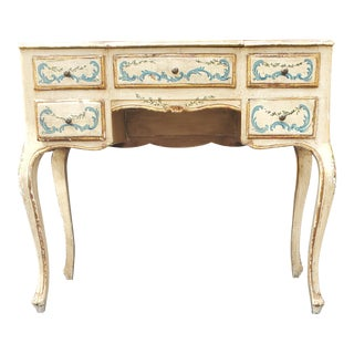 Antique Victorian Louis XV Style Painted Vanity For Sale