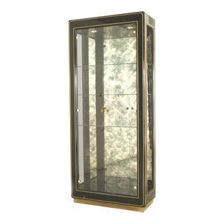 American Mid-Century Modern Ebonized Vitrine Cabinets For Sale
