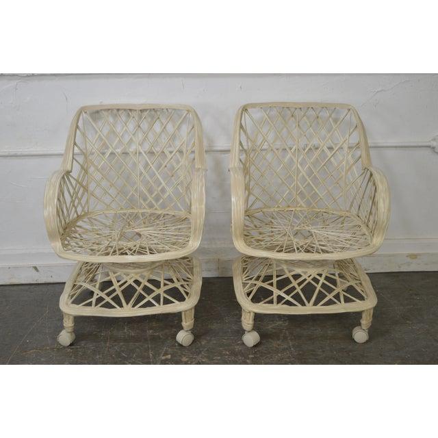 Russell Woodard Spun Fiberglass Table & Chairs - Set of 5 - Image 2 of 11
