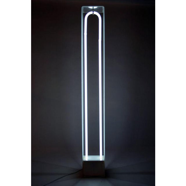 """U Tube Light"" Sculpture by Christopher Sproat - Image 3 of 6"