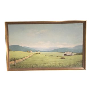 Virginia Countryside Original Oil Landscape Painting For Sale
