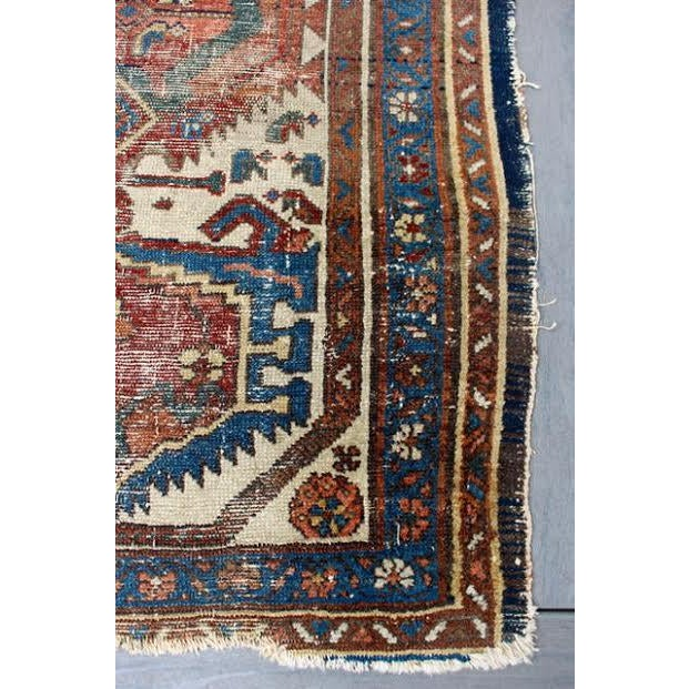 """Antique Persian Rug - 2'9"""" x 4'5"""" - Image 8 of 9"""