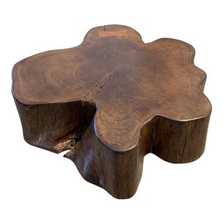 Acacia Slice Wood Table For Sale