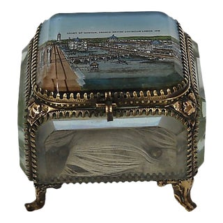 Antique London Souvenir Jewelry Box - D. 1908 For Sale