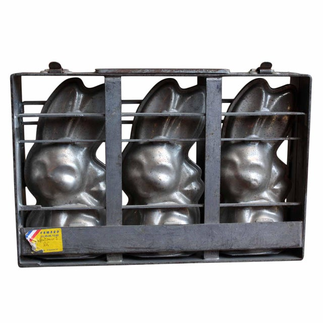 French Provincial Easter Bunny Chocolate Mold, Set For Sale - Image 3 of 6