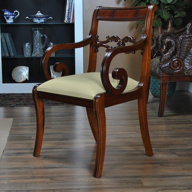Philadelphia Empire Arm Chair - a Pair For Sale - Image 9 of 13