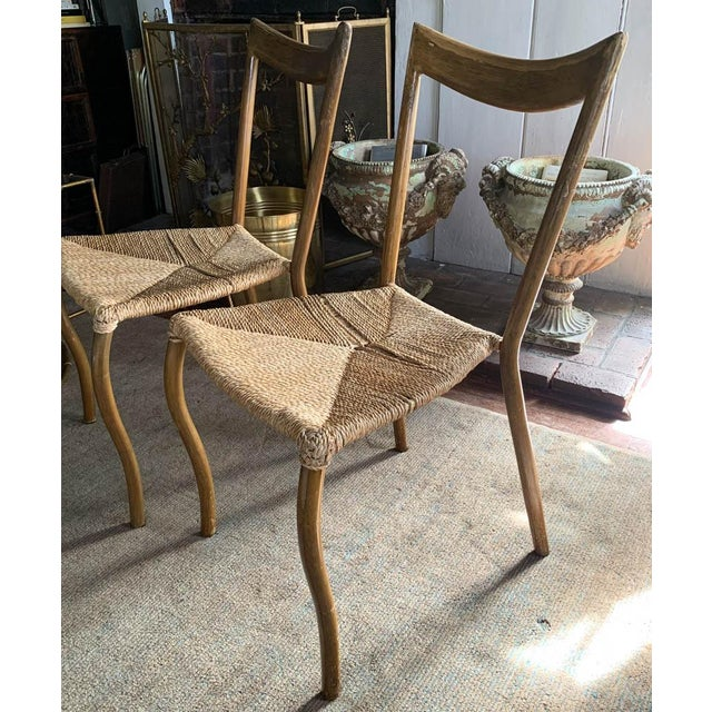 Mid 20th Century Pair, Mid Century Chairs With Rope Seats For Sale - Image 5 of 12
