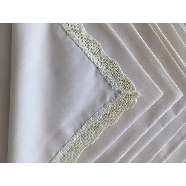 Shabby Chic 1940s Shabby Chic Embroidered Table Napkins - Set of 8 For Sale - Image 3 of 5