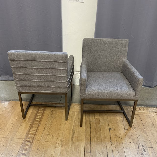 Gray Universal Furniture Cooper Chairs - Set of Six For Sale - Image 8 of 13