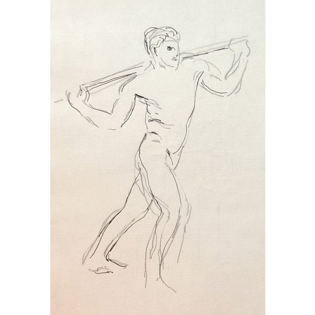 Figurative Male Nude by Hayward Cirker - 1970s For Sale - Image 3 of 3