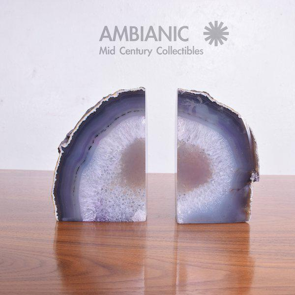 Pair of Amethyst Bookends Made in Brazil For Sale - Image 4 of 10