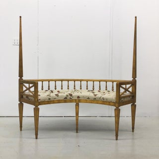 Hollywood Regency Curved Gilt Wood Settee Preview