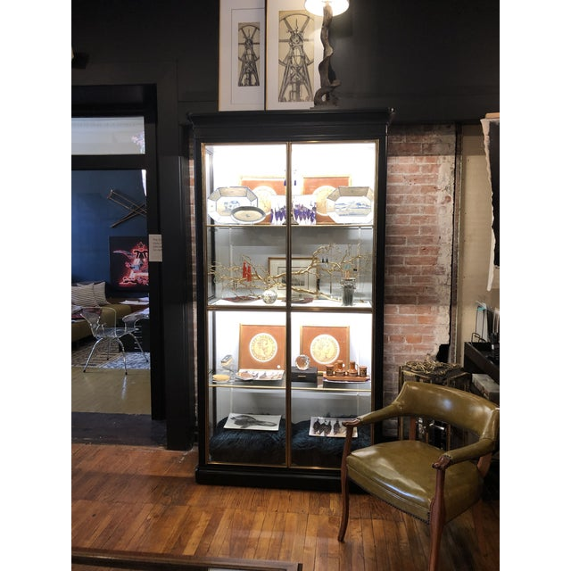 Fenwick Etagere Lighted Cabinet For Sale - Image 10 of 12