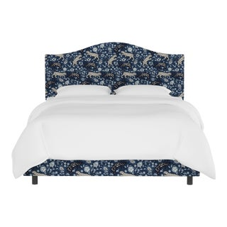 Queen Bed, Leopard Blue For Sale