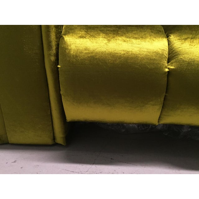 Custom Velvet Channel Tufted Double Lounge Daybed For Sale - Image 9 of 11