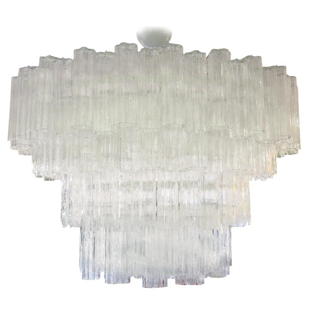 Venini Tubi Irregulare Ceiling Light For Sale