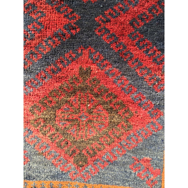 Vintage Persian Baluchi Small Area Rug- 2′10″ × 4′4″ - Image 4 of 8