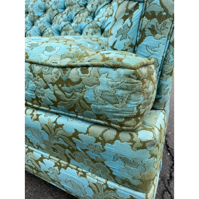 Vintage Tufted Floral Chesterfield Sofa For Sale - Image 11 of 13