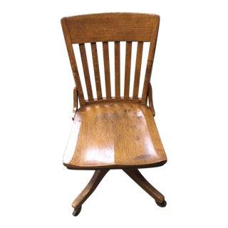 J.B. Van Sciver Co. Antique Desk Chair For Sale