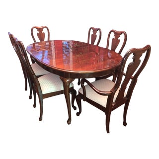 1980s Thomasville Dining Set - 7 Pieces For Sale