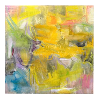 """""""Marigolds"""" by Trixie Pitts Abstract Expressionist Oil Painting For Sale"""