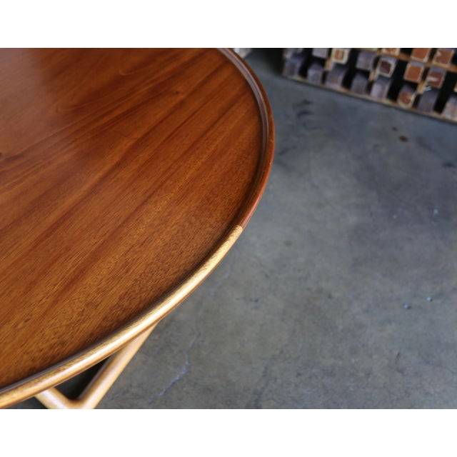 Brown Large Egyptian Table by Mogens Lassen for A.J. Iversen Circa 1955 For Sale - Image 8 of 13