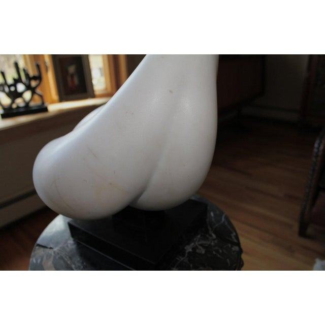 Abstract White Marble Sculpture For Sale - Image 9 of 10