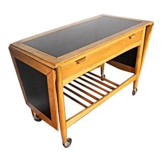 Elegant Mid-Century Modern Tea Cart Side Table Console Server For Sale