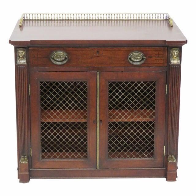 Antique 19th C. Regency Style 2-Door Cabinet - Image 1 of 6