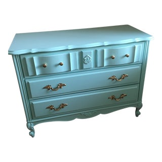 1960s Mint Lacquer French Provincial Dresser