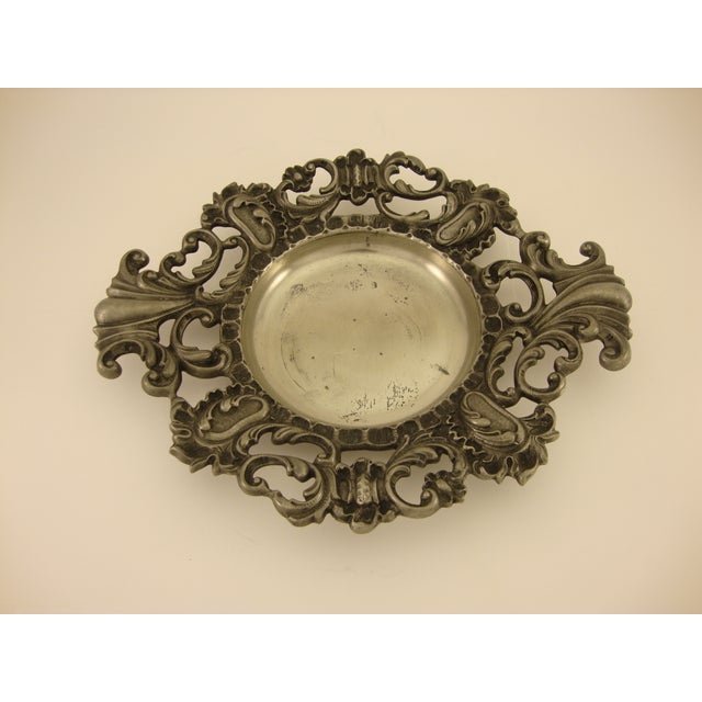 Vintage Baroque Italian Pewter Catchall - Image 3 of 5