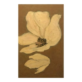 Barbara Dodge Oil Painting of a Flower For Sale