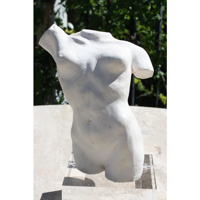 Figurative Female Nude Torso Sculpture For Sale - Image 3 of 13