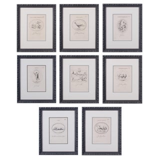 Leonardo Agostini Engravings From Le Gemme Antiche Figurate - Set of 8 For Sale