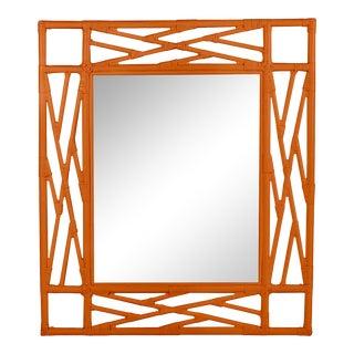 Chippendale Mirror - Orange For Sale